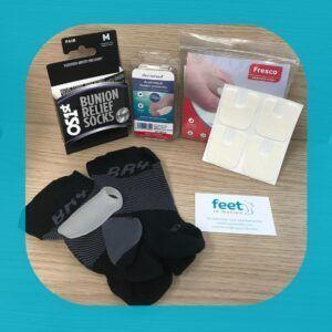 HAV Pakket - hallux valgus - dikke teen - kous - silicone bescherming - vilt - ontlasten - voeten - FeetinMotion