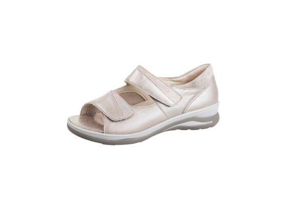 Fidelio Jilly J - beige - hallux valgus schoen -sandaal - binnenschoen - uitneembare zool - comfortschoen - FeetinMotion